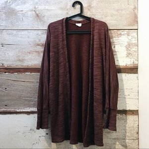 burgundy cardigan // Urban Outfitters